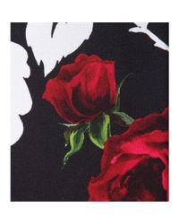Dolce & Gabbana - Black Floral-Print Shift Dress - Lyst