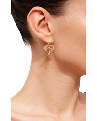 Annette Ferdinandsen Metallic Orchid Earrings