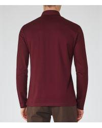Reiss - Purple Santi Pique Cotton Polo Shirt for Men - Lyst