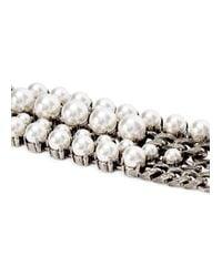 Lanvin | White Faux Pearl-embellished Bracelet | Lyst