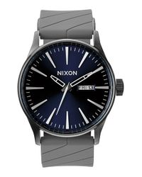 Nixon - Gray 'the Sentry' Watch for Men - Lyst