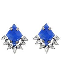 DANNIJO | Blue Bleu Earrings | Lyst