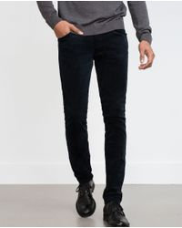 Zara | Blue Corduroy Trousers for Men | Lyst