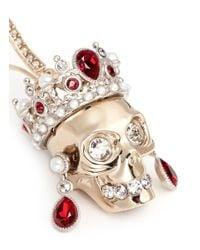 Alexander McQueen | Metallic Swarovski Crystal Royal Skull Earrings | Lyst