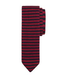 Brooks Brothers | Red Bb#5 Stripe Knit Tie for Men | Lyst