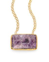 Nest | Metallic Amethyst Pendant Necklace | Lyst
