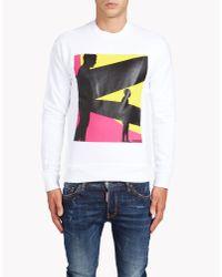 DSquared² | White Dean Fit Sweatshirt for Men | Lyst