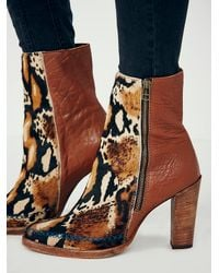 Free People Brown Baroness Heel Ankle Boot