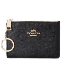 COACH - Black Embossed Txrd Leather Mini Skinny - Lyst