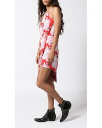 Azalea - Red Colleen Halter Dress - Lyst