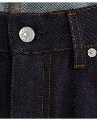 Acne Studios   Dark Blue Stretch Denim Raw Jeans L32 for Men   Lyst