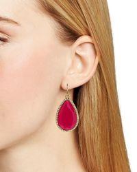 Kate Spade | Pink Day Tripper Pavé Earrings | Lyst