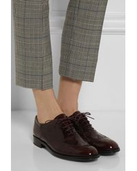 Tod's Red Glossed Leather Brogues