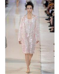 Rochas   Pink Floral Embroidered Silk Nigel Dress   Lyst