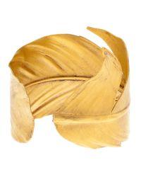 Yumeko Yamada - Metallic Feather Arm Cuff - Lyst