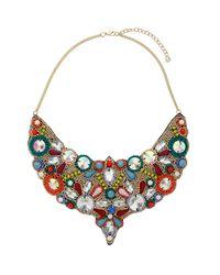 TOPSHOP - Multicolor Bright Beaded Bib Necklace - Lyst
