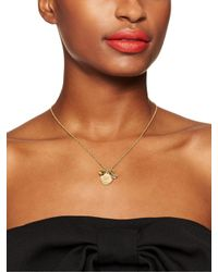 kate spade new york - Metallic Born To Shine Ring Charm Necklace - Lyst