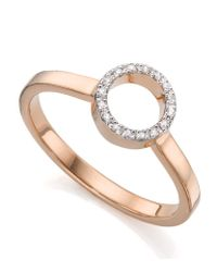 Monica Vinader | Pink Diva Mini Circle Open Diamond Ring | Lyst