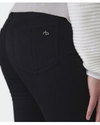 Rag & Bone - Black Plush Leggings - Lyst