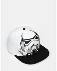 ASOS - Black Star Wars Snapback Cap In White Monochrome for Men - Lyst