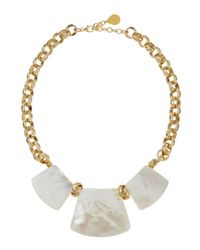 Devon Leigh | Metallic Mother-of-pearl Graduated Pendant Necklace | Lyst
