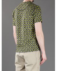KENZO - Yellow Printed T-shirt for Men - Lyst