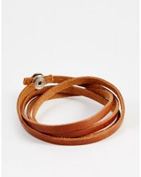 Royal Republiq | Brown Leather Wrap Bracelet for Men | Lyst