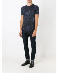 Dolce & Gabbana Blue Baroque Flower Print T-shirt for men