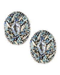 Alexis Bittar Fine | Blue Stones  Diamonds Button Earrings | Lyst