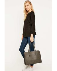 Urban Outfitters Gray Grey Structured Tote Bag