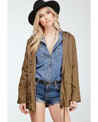 Forever 21 - Natural Hooded Utility Jacket - Lyst