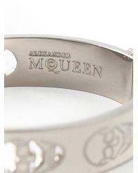 Alexander McQueen | White Enamel Skull Bangle | Lyst