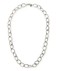 Armenta | Metallic Sterling Silver Twisted Link Necklace for Men | Lyst