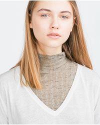 Zara | White V-neck Top | Lyst