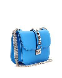 Valentino | Blue Lock Leather Shoulder Bag | Lyst