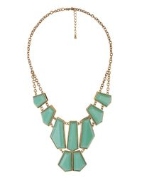 Forever 21 - Green Angular Gemstones Necklace - Lyst