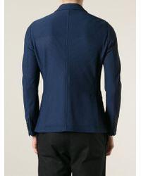 Giorgio Armani | Blue Pique Blazer for Men | Lyst