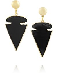 Dara Ettinger | Metallic Large Arrow Goldplated Geode Earrings | Lyst