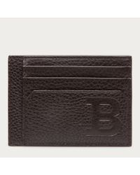 Bally Black Bink Men ́s Leather Card Holder In Safari for men