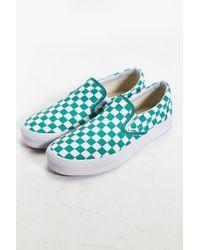 Vans | Blue Classic Checkered Slip-on Sneaker for Men | Lyst