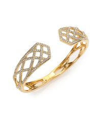 Adriana Orsini | Metallic Elevate Pave Crystal Bangle Bracelet | Lyst