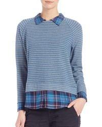 Soft Joie - Blue Keala Layered Striped Sweater - Lyst