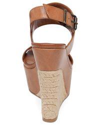 Jessica Simpson Brown Anika Espadrille Platform Wedge Sandals