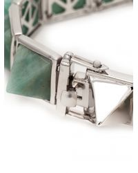 Eddie Borgo | Green Gemstone Pyramid Bracelet | Lyst