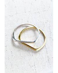 Urban Outfitters | Metallic Milo Metal Bangle Bracelet Set | Lyst