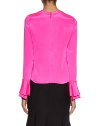 ROKSANDA Pink Myseen Long-sleeved Silk Blouse
