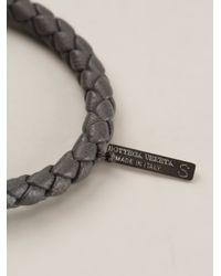 Bottega Veneta Gray Woven Bracelet for men