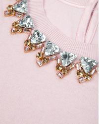 Ted Baker - Pink Jodi Embellished Jumper - Lyst