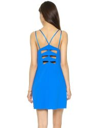 Alice + Olivia | Blue Lianne Cutout Dress - Black | Lyst