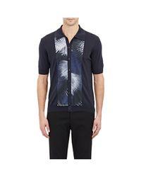 Façonnable Blue Button-front Polo Shirt for men